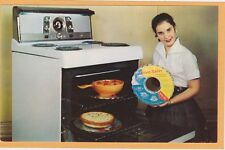 Advertising Postcard - Retro Oven Saver - Woman with Stove