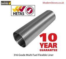 Multi Fuel Flexible Flue Liner 6 inch Stainless Steel Flexi Chimney Per Meter