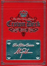 LUXURY RED CROWN DECK Playing Cards / 1 NEW v1 First Ed RARE / hopc blue Blaine