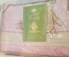Disney Classic Winnie Pooh Pink Multicolor Standard Bed Dust Ruffle