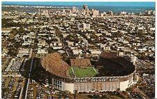 Org Vintage 1950s-70s PC- University of Miami Football- Stadium- Miami Dolphins