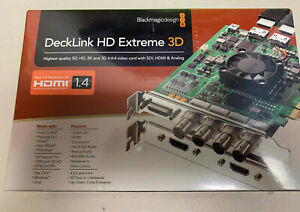NIB new blackmagic design decklink HD extreme 3D