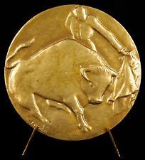 Médaille Arena Sevilla Toro corrida taureau tauromachie Antonio de Hoyos Vinent