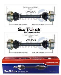 For VW Beetle Squareback Fastback 1969-79 2 Rear CV Axle Shafts SurTrack Set