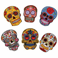 """Mexican Sugar Skull DAY of The DEAD Embroidered Patch Iron On Appliques 3""""X4"""""""