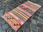 Small rug, Doormats, Bohemian rugs, Natural dyed rug, Soft, Wool   1,5 x 3,1 ft