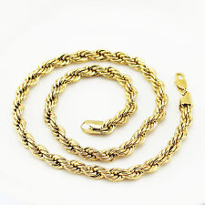 Mens Jewellery 18 k Gold Plated Necklace for Men Chunky Chain Wide 7 mm N294