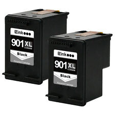 2 Pack HP 901XL 901 XL Black Ink Cartridge CC654AN HP901 BK