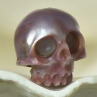 12.02 mm Human Skull Bead Carving Kasumi Freshwater Pearl 2.00 g drilled 2.5 mm