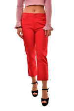 J Brand Simone Rocha Womens Frill SR1265 Slim Jeans Red Size 26