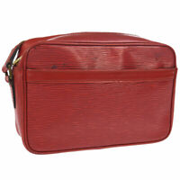 LOUIS VUITTON TROCADERO 24 CROSS BODY SHOULDER BAG RED EPI M52317 MI1913 A45920