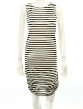 Alice and Olivia by Stacey Bender Navy and White Shirt Sleeveless Dress Size S