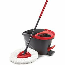 O-Cedar EasyWring Microfiber Spin Mop and Bucket Floor Cleaning System Mops Home