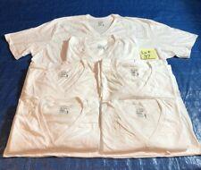 Lot Jockey Men's 6 V-Neck White T-Shirts STAYNEW 100% Cotton 3XL (54-56) XXXL