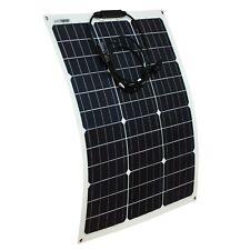 Flexible 20w 30w 50w 80w 100w 120w PV Solar Panel for 12v 24v battery system UK
