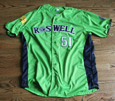 2019 Roswell Invaders Lime Game Jersey Game Worn Jersey #36 Size XL