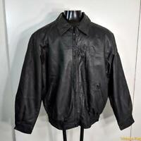 IRWIN BILERMAN Soft LEATHER JACKET Mens Size XL Black zippered insulated