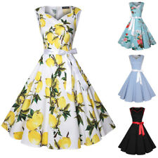 Womens Vintage 50s Sweetheart Sleeveless Party Cocktail Rockabilly Swing Dresses