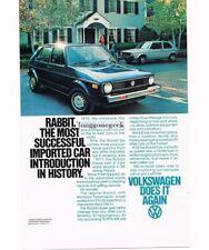 1978 VW Volkswagen RABBIT Blue 4-door Vtg Print Ad