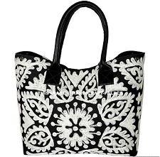 Indian Cotton Suzani Embroidered Handbag Tote Shoulder Bag Handmade Hobo Bag