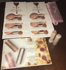 FRESH Sugar Lip Treatment in Nude Travel Size .07oz And Caramel Sample Cards