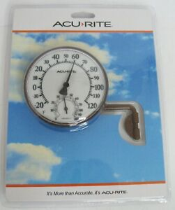 "AcuRite Outdoor Thermometer/Easy to Read/Includes Hygrometer/3.5""/NIB"