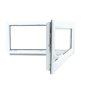 Fenêtre en PVC Blanc Aluplast 4000 un vantail oscillo-battant Largeur: 650 mm