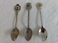 Arkansas, California & Texas ~ 3 State Souvenir Spoons