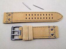 Genuine Luminox 23mm Atacama 1820 1830 1840 1850 tan suede leather watch band