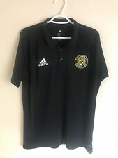 Adidas Columbus Crew SC MLS Soccer Polo Shirt Ohio XL Black $65+