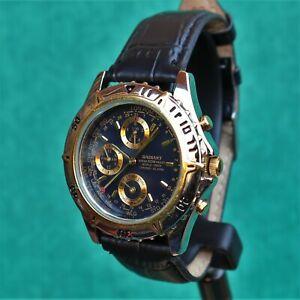 RADIANT Chronograph World Timer Alarm Vintage Watch Reloj Montre Orologio NOS