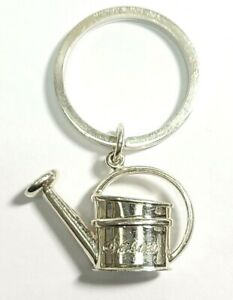 Mish New York Sterling Silver Watering Can Charm Keychain Engraved Susan
