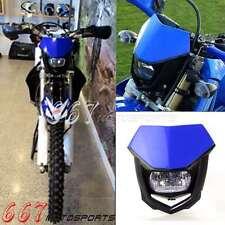 Universal Dirt Bike Motorcycle Vision Headlight Head Light Street Fighter Lamp