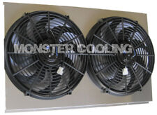 "Cadillac Seville Custom Aluminum Radiator Fan Shroud & 2-12"" Fans -17""H x 26 1/4"