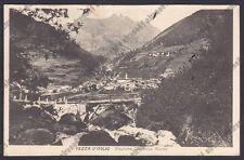 BRESCIA VEZZA D'OGLIO 21 VAL CAMONICA Cartolina VIAGGIATA 1930