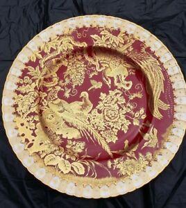 Royal Crown Derby Paradise Maroon Dinner plate