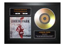 More details for linkin park signed gold disc album ltd edition framed picture memorabilia