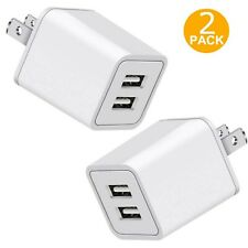 Fast Charger US Wall Plug Travel Dual USB Port Power Adapter Charging 2X