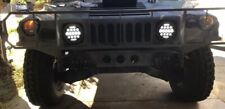 2 Military HMMWV LED Headlights M1043 M1045 Head Light Plug & Play BLK Bezel 75W