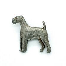 Vintage Mid Century Pewter Standard Schnauzer Dog Pin Brooch