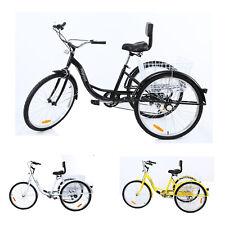 "Shimano 7-Speed Adult 26"" 3-Wheel Tricycle Trike Bicycle Bike Cruise w/ Basket"
