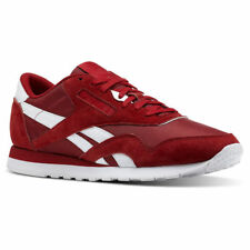 Reebok BS9802 CL Nylon Classic Power Red White Casual Comfort Sneakers for  MEN 89eefbc5674a