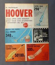 PUB PUBLICITE ANCIENNE ADVERT CLIPPING 150917 / ASPIRATEUR HOOVER POUR TOUS SOLS