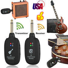 UHF Guitar Wireless System Transmitter Receiver Built-in Rechargeable 20Hz-20kHz