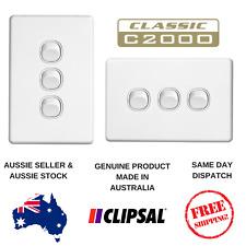 Clipsal Classic 10A 3 Gang Light Switch C2033VA / HA