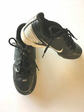 Nike Sz 3.5Y Boys Black Baseball Cleats Low Rise Lace Up GUC