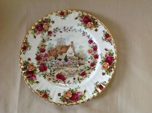 """ROYAL ALBERT OLD COUNTRY ROSES COTTAGE 10.25"""" PLATE EXCELLENT CONDITION FIRST"""
