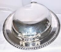 Vintage Wm Rogers Silverplate Covered Oval Casserole Serving Dish / Tray