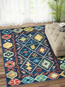 Multicolour Polypropylene Rectangular 3x5 Feet Geometric Pattern 1Pc Rug Runner