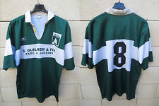 VINTAGE Maillot rugby porté n°8 PAU SECTION PALOISE ancien collection supporter